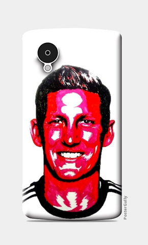 Nexus 5 Cases, Bastian Schweinsteiger Nexus 5 Case by Kislaya Sinha, - PosterGully