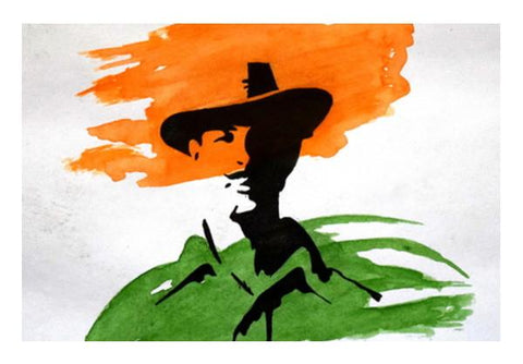 PosterGully Specials, Bhagat Singh Wall Art  | Artist : Rahul Tanwar, - PosterGully