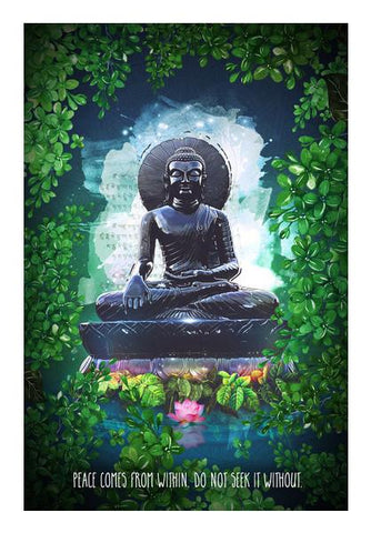 PosterGully Specials, Buddha peace comes from within Wall Art | Artist : Cuboidesign, - PosterGully