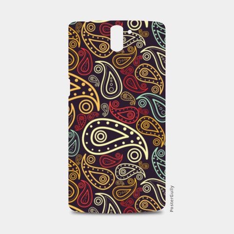 Abstract hand drawn floral illustration on multicolors One Plus One Cases | Artist : Designerchennai