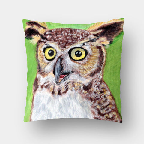 Cushion Covers, Owl Cushion Cover | Artist: Anuja Katti, - PosterGully