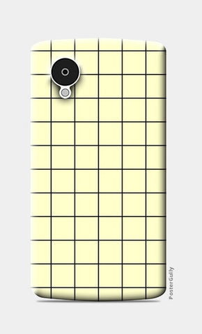 Cream minimalist checks pattern Nexus 5 Cases | Artist : Gauri Deshpande