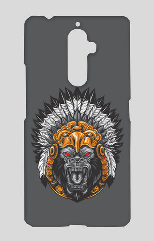 Gorilla Wearing Aztec Headdress Lenovo K8 Note Cases | Artist : Inderpreet Singh