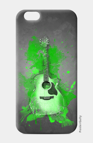 Guitar Splash – Green iPhone 6/6S Cases | Artist : Darshan Gajara's Artwork