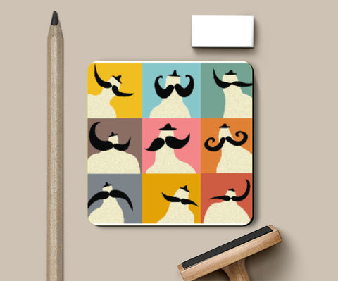 Coasters, Stache Coaster | looshmoosh, - PosterGully