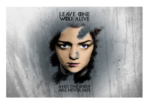 Game of Thrones | Arya Stark | Wall Art  | Artist : Vivid Corner