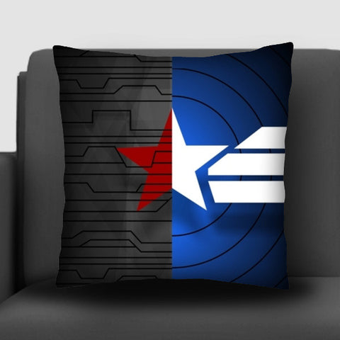 Captain america Winter Soldier combined marvel Cushion Covers | Artist : Gauri Deshpande