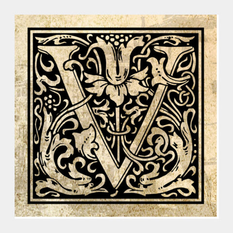 Ornate V Square Art Prints PosterGully Specials