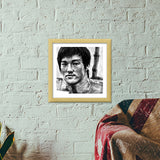 Bruce Lee the Legend Premium Square Italian Wooden Frames | Artist : Draw On Demand