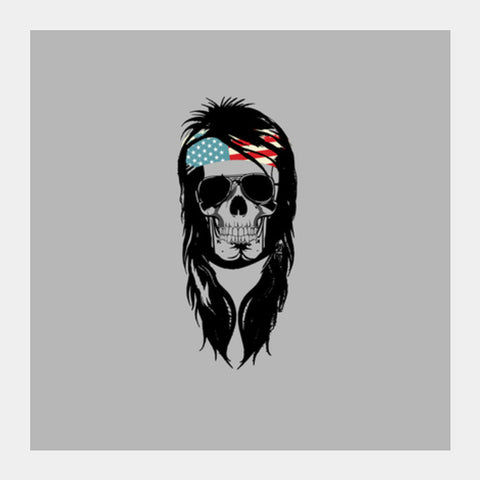 Square Art Prints, Rockstar skull Square Art Prints | Artist : Abhishek Bhardwaj, - PosterGully