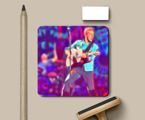 Chris Martin from Coldplay Coasters | Artist : Ayushi Jain