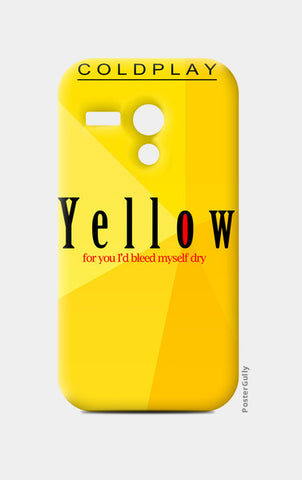 Moto G Cases, Yellow - Coldplay Moto G Cases | Artist : Aishwarya Tandon, - PosterGully