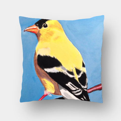 Cushion Covers, Goldfinch Cushion Cover | Artist: Anuja Katti, - PosterGully