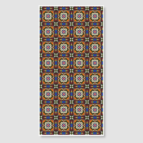Tribal Moroccan Geometric Tile Pattern Design Door Poster | Artist : Seema Hooda