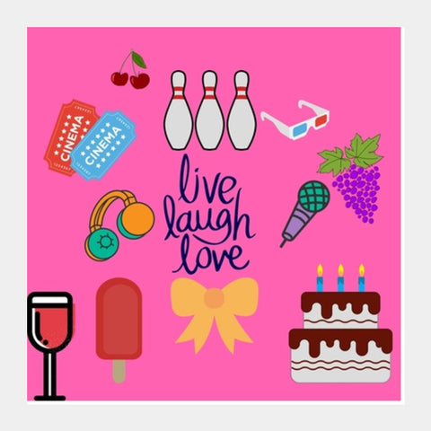 Live Laugh Love Square Art Prints | Artist : Pallavi Rawal