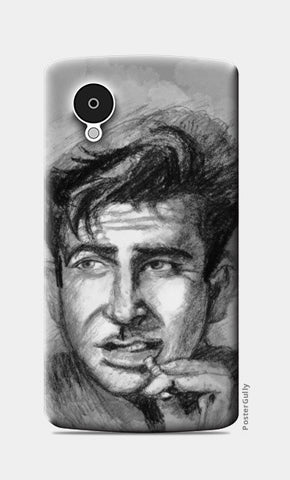 Bollywood-Raj Kapoor- Charcoal Sketch Nexus 5 Cases | Artist : Raman Bhardwaj