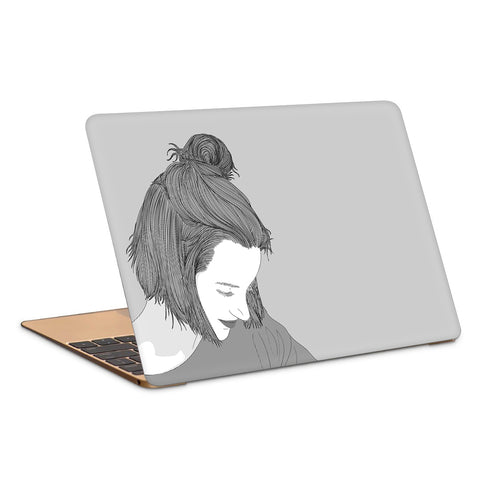 Happy Glowing Girl Laptop Skin