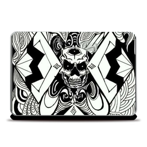 Laptop Skins, invert skull art Laptop Skins | Artist : akash biyani, - PosterGully