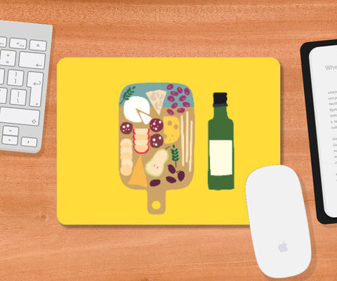 Mousepad, wine and cheese Mousepad | looshmoosh, - PosterGully