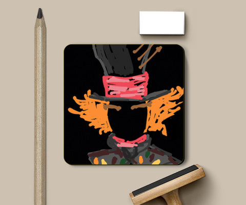 Mad Hatter Alice In Wonderland Minimal Sketch Doodle Artwork (Movies/Childhood) Coasters | Artist : Looks Good = Feels Good