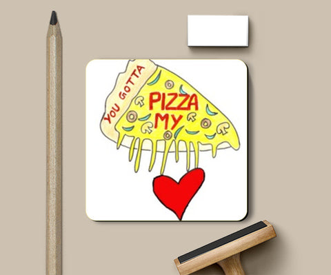 Pizza Love Coasters | Artist : Ajooni Singh