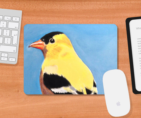 Mousepad, Goldfinch Mousepad | Artist: Anuja Katti, - PosterGully