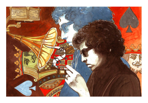 Bob Dylan Art PosterGully Specials