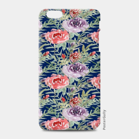 iPhone 6 Plus / 6s Plus Cases, Elegant Blue Floral pattern iPhone 6 Plus / 6s Plus Cases | Artist : Seema Hooda, - PosterGully