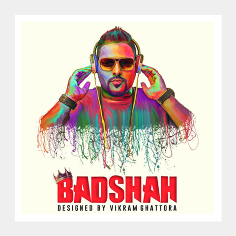 Square Art Prints, Badshah Painting Square Art Prints | Artist : Vikram Ghattora, - PosterGully