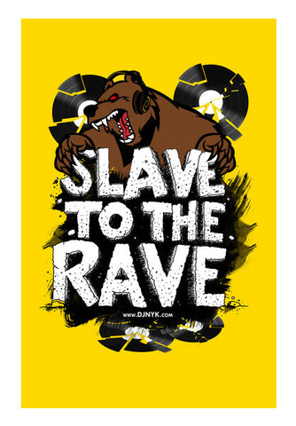 Wall Art, SLAVE TO RAVE Wall Art | DJ NYK, - PosterGully