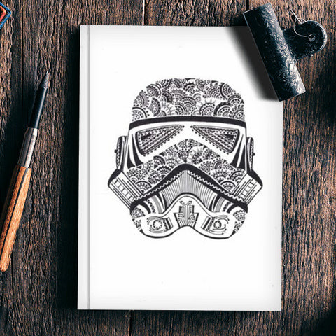 doodle,black and white,storm trooper Notebook | Artist : All the randomness