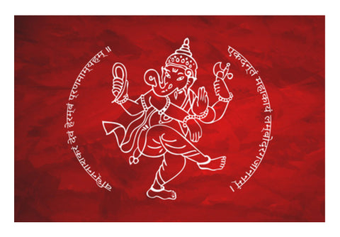 Sri Ganesh With Mantra Wall Art  | Artist : Creative DJ
