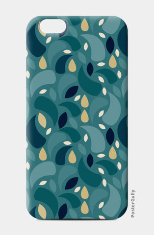 Geometric leaf  shapes seamless pattern iPhone 6/6S Cases | Artist : Designerchennai