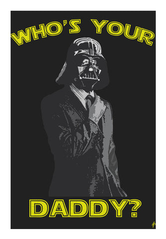Daddy Darth Vader  Art PosterGully Specials