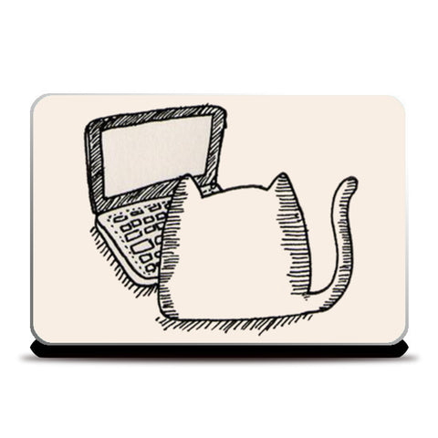 Kitty Laptop Skin Laptop Skins | Artist : Navdeep Sharma