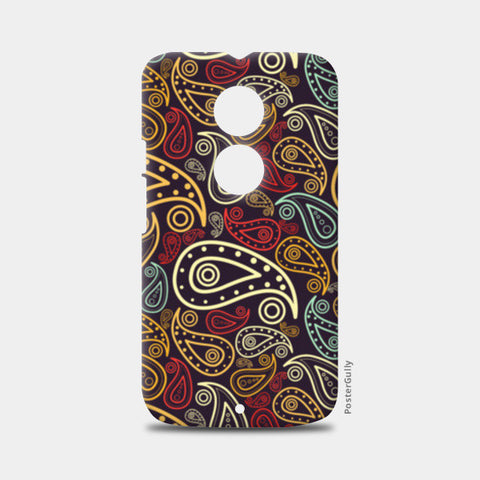 Abstract hand drawn floral illustration on multicolors Moto X2 Cases | Artist : Designerchennai
