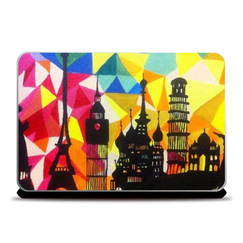 Laptop Skins, Monuments of World Laptop Skin | Artist:Meghna Garg, - PosterGully