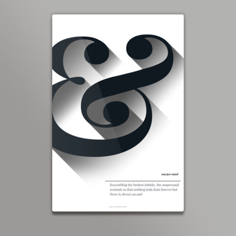 Ampersand black & white Metal Prints | Artist : Sabrina Ruiz