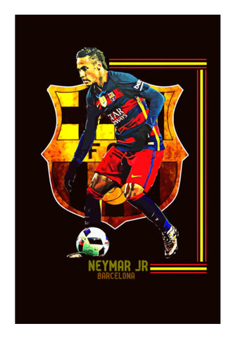 Neymar Jr - FC Barcelona Wall Art | Artist : Syamantak Dubey