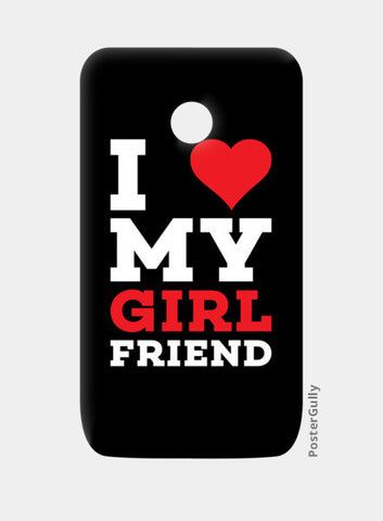 I love my girl friend Moto E Cases | Artist : Designerchennai