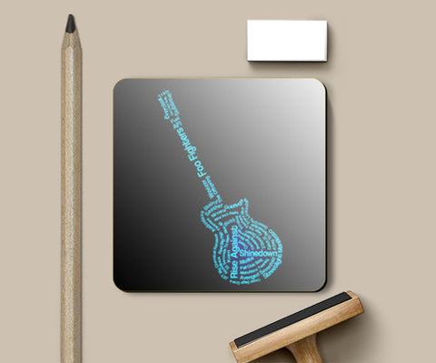 Coasters, Glowing Guitar Coasters | Artist : Champa Guchait, - PosterGully