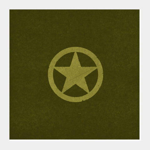 Square Art Prints, BRAVE ARMY STAR BADGE Square Art Prints | Artist : dooo, - PosterGully
