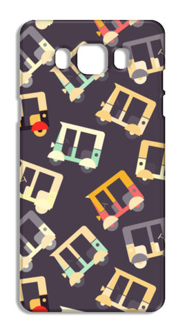 Auto rickshaw quirky pattern Samsung Galaxy J7 2016 Cases | Artist : Designerchennai