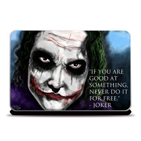 Joker's Advice Laptop Skins | Artist : Draw On Demand