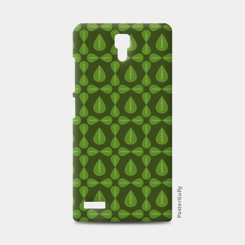 Seamless pattern with leaves on green background Redmi Note Cases | Artist : Designerchennai