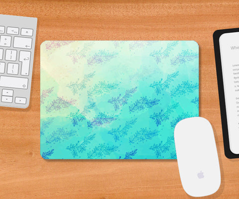 Blue Floral Water Colour Mousepad | Artist : Amantrika Saraogi