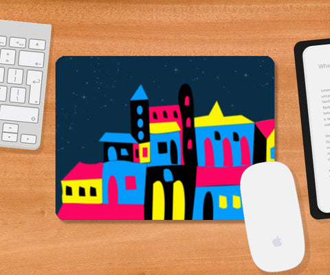 Colorful House Mousepad | Artist : Nisha Prabhu