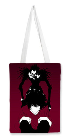 "death note ""L"" Tote Bags 