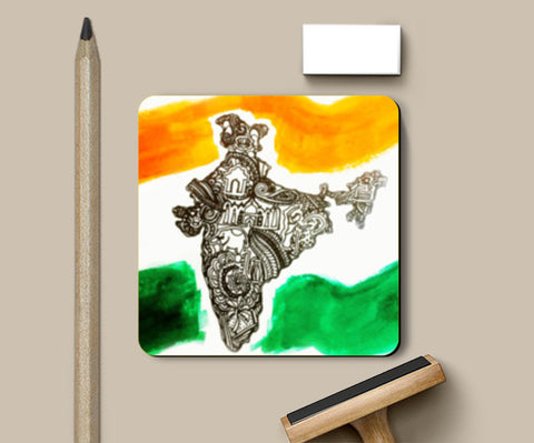 Coasters, Republic Day Coasters | Artist : Ayushi Teotia, - PosterGully