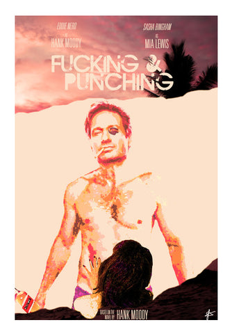 Hank Moody | Californication : Fucking & Punching Wall Art | Artist : Jason Ferrao